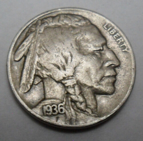 "1936 P INDIAN HEAD ""BUFFALO"" NICKEL   *XF - EXTREMELY FINE*   **FREE SHIPPING**"