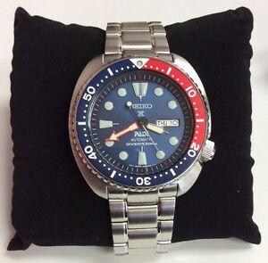 SEIKO Men's PROSPEX Automatic Pepsi Turtle PADI Divers 200M Special WATCH SRPA21