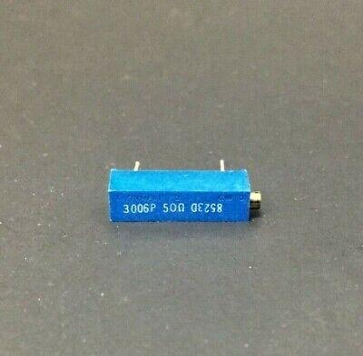 Bourns 3006p-50 50 Ohm .75w Multi-turn Cermet Trimmer Potentiometer