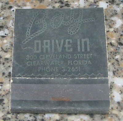 Matchbook Cover Matches Bay Drive In Restaurant Clearwater Fl Florida