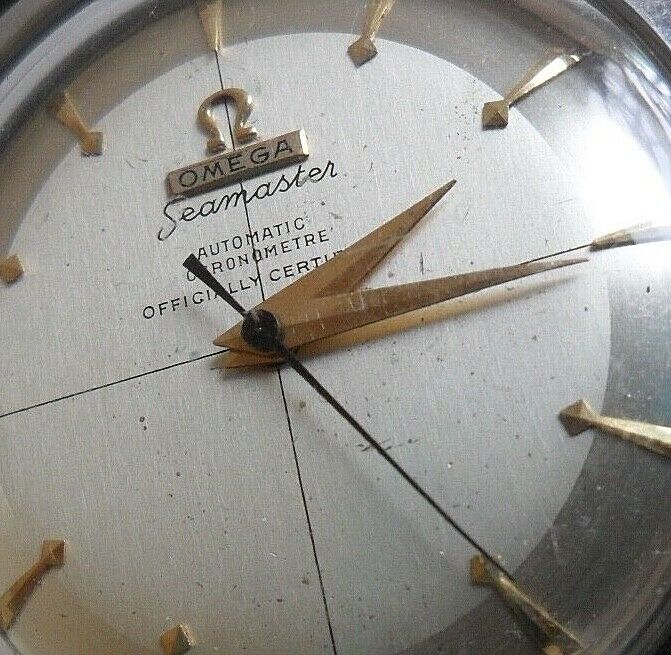 Rare S/S Vintage 1953 Men's Omega Seamaster Chronometer 17J 5Adj Automatic Watch - watch picture 1