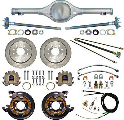 CURRIE 64-66 MUSTANG REAR END & DISC BRAKES,LINES,PARKING BRAKE CABLES,AXLES,ETC