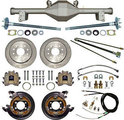 CURRIE 79-93 MUSTANG 5-LUG REAR END & DISC BRAKES,LINES,E-BRAKE CABLES,AXLES,ETC