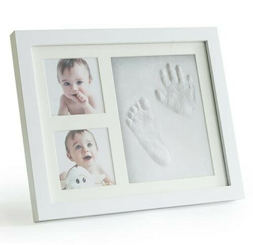 Premium Clay Baby Footprint & Handprint Picture Frame Kit - Safe
