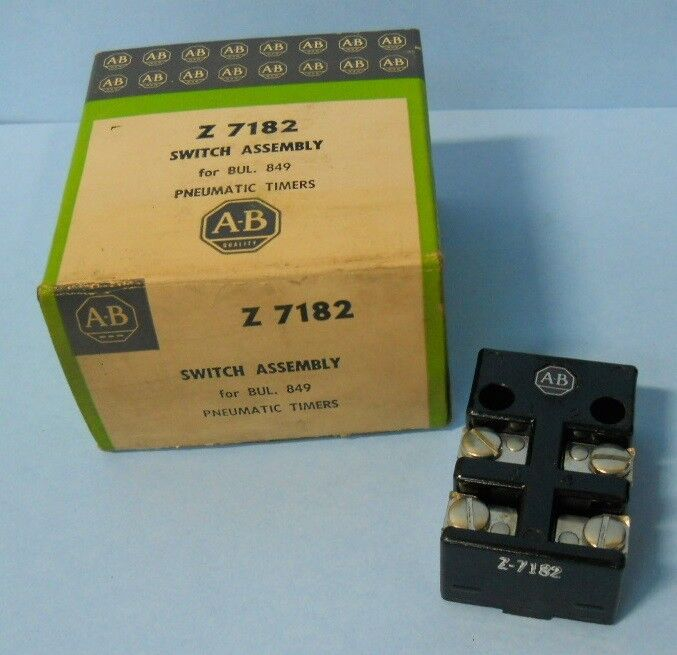 ALLEN BRADLEY Z 7182 SWITCH ASSEMBLY FOR PNEUMATIC TIMING RELAYS, I*PZF*