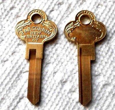 (1) Antique Vintage Beautiful P&F Corbin Key Blank Ornate Art Deco Collector's  - Ornate Key
