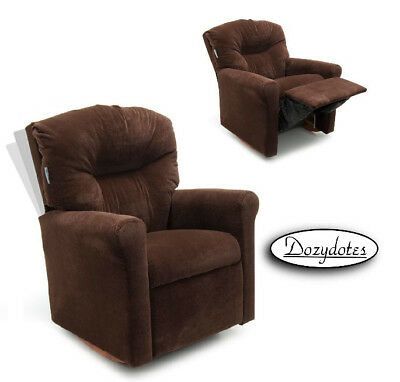 Child Rocking Chair Recliner - Chocolate Micro (Microsuede Child Recliner)