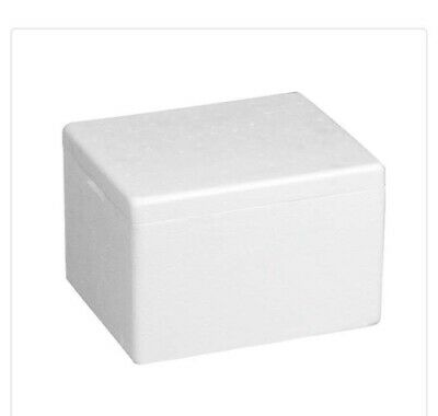 Polar Tech Insulated Styrofoam Container Box With Lid On12 Large 11x9x7
