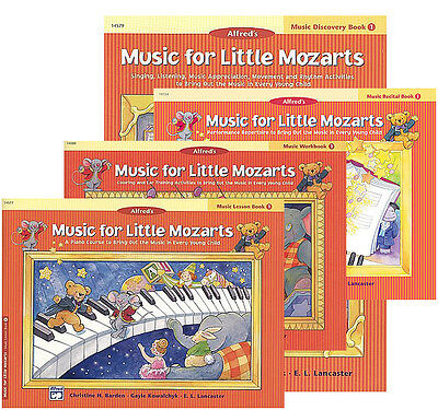 MUSIC FOR LITTLE MOZARTS - LEVEL 1 - SET OF FOUR PIANO BOOKS - 20% OFF!
