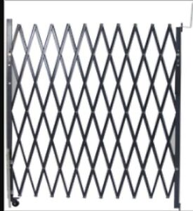 7' x 6.6' black folding security gate