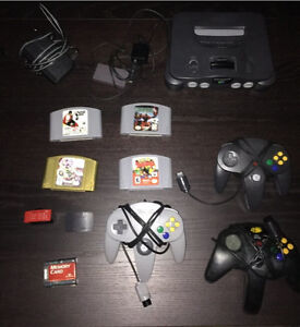 N64 With 3 controllers and 4 Games!