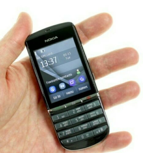 Android Phone - Brand New Nokia Asha 300 Unlocked  3G Touch&Type 5MP Camera Grey Mobile Phone