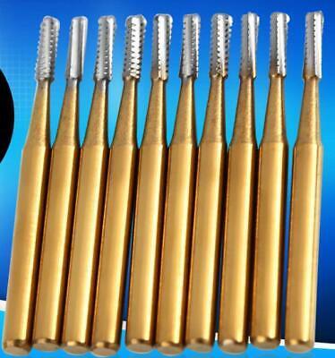10pcs Set High Speed Dental Tungsten Steel Crown Metal Cutting Burs Fg-1957