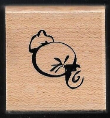 ROLLED CANDY Sugar Snack CTMH CLOSE TO MY HEART NEW wood Halloween RUBBER STAMP