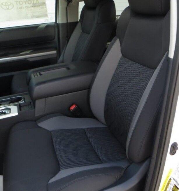 2014 2018 toyota tundra crewmax katzkin black leather for Toyota tundra leather interior