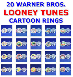 YOU-PICK-1-OF-20-RETIRED-WARNER-BROS-LOONEY-TUNES-ROUND-RINGS-PARTY-FAVORS-GIFTS