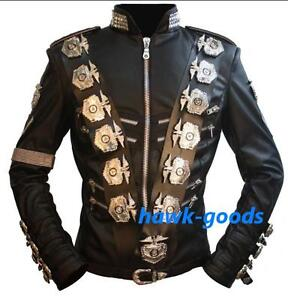 New-MICHAEL-JACKSON-BAD-PU-LEATHER-JACKET-IN-JAPAN-PERFORMANCE