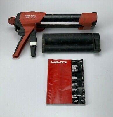 Hilti Hdm500 Hdm 500 Black Cartridge Adhesive Epoxy Dispenser