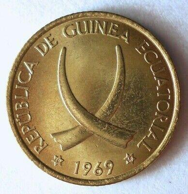 1969 EQUATORIAL GUINEA PESETA - AU/UNC - Exotic Coin - Free Ship - BIN #FFF