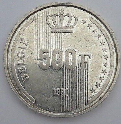 Boudewijn - 500 Francs 1990 Frans en Vlaams Belgique Belgïe FR NL