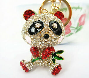 Bamboo-Red-Panda-Cute-Lovely-Pendent-Charm-Crystal-Purse-Bag-Key-Ring-Chain-Gift