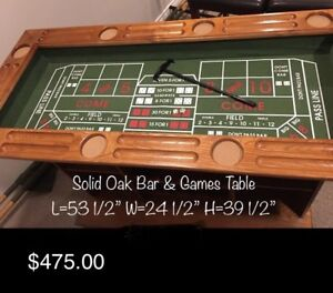 Bar/Games Table