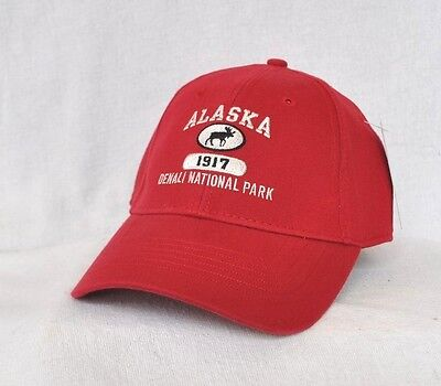 Denali Moose (*DENALI NATIONAL PARK ALASKA* Bull Moose Structured Ball cap hat *OURAY* )