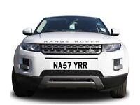 Suit RANGE ROVER,SPORT, EVOQUE & Rolls Royce Phantom,Ghost,Wraith,dawn NASTY RR private number plate