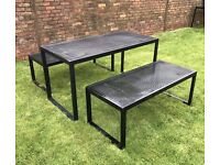 Metal Table & Benches