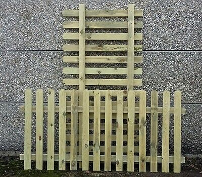 2 x 90cm (3ft) tall x 1.8m (6ft) Picket Garden Fence Panels treated wood wooden