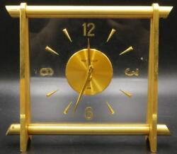 Jaeger Le Coultre Brass & Lucite Desk Clock Lot 151