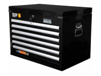 Halfords Advanced 6 drawer tool chest cabinet box advanced black top box (not Snap-on or Mac)