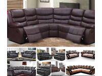 New recliner corner or 3 + 2/fabric sofa - less than £20 per week on finance