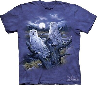 Snowy Owls T-Shirt by The Mountain. Birds Moonlight Plumage Sizes S-5XL NEW](Birds T)