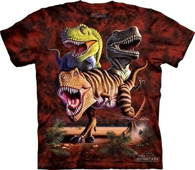 Rex Collage Kids T-Shirt from The Mountain. Dinosaurs Boy Girl Child Sizes NEW - Rex Kids