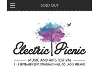 Electric Picnic Weekend Ticket 2017 SOLD OUT