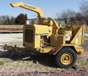 Vermeer BC 1250 diesel 12 inch wood chipper