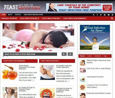 Yeast Infection Blog - Established Profitable Turnkey Wordpress Website For Sale