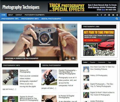 Photography Wp Blog - Established Profitable Turnkey Wordpress Website For Sale