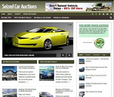 Seized Car Auctions - Established Profitable Turnkey Wordpress Website For Sale