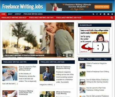 Freelance Writing Ready Made - Established Profitable Turnkey Website For Sale