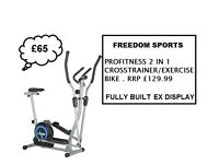 REDUCED!! PROFITNESS 2 IN 1 CROSS TRAINER EX DISPLAY FULLY BUILT
