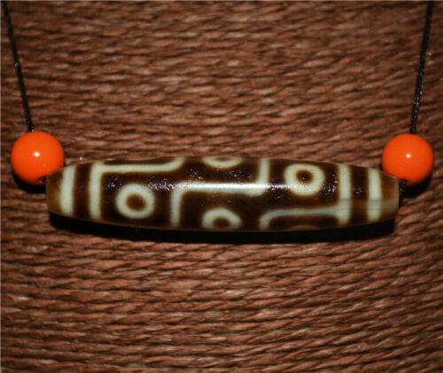 tibetan old antique genuine 9 eyes dzi bead amulet t real nine eyed gzi pendant