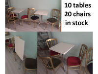Coffee bar Cafe Bistro Dining Restaurant Tea shop Table and Chair set folding