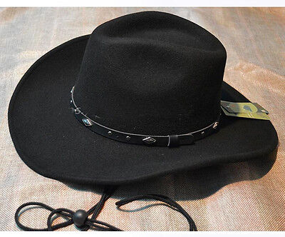 New Men's/Woman's Unisex 100% WoolFelt Western Cowboy Shapeable Hat - Cheap Cowboy Hats For Men
