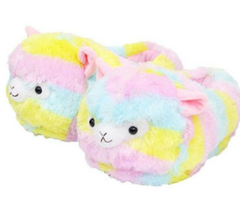 Llama Slippers Alpacasso Plush Alpaca Soft Warm Shoes Fluffy