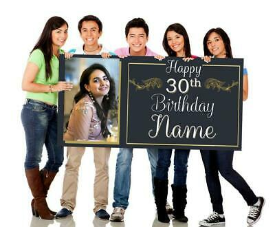 Birthday Banners With Photo Personalized (Birthday Banner with Photo, Simple Birthday Banner, Customizable,)