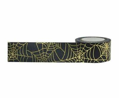 Halloween Gold Foil Spider Web Washi Tape Papercraft Planner Supply Party Craft