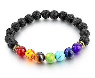 Bead Bracelet Ideas (7 Chakra Healing Bead Bracelet, Reiki Prayer Stones, Balance, Gift)