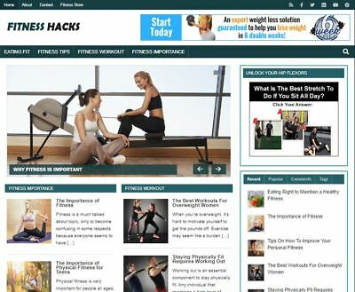 Fitness Hacks Ready Made Blog - Established Profitable Turnkey Website For Sale